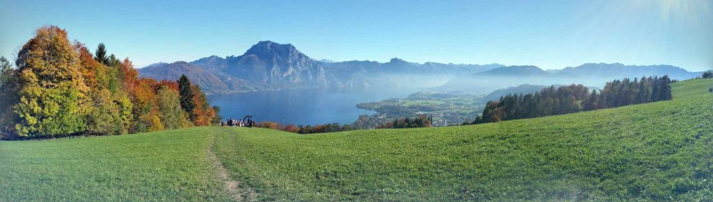 View of Traunsee, Traunstein - beautiful lakes in Austria