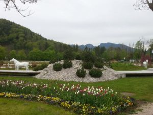Bad Ischl Sisi Park in Spring