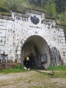The Franz Josef entrance to one of the mines at Hallstatt.